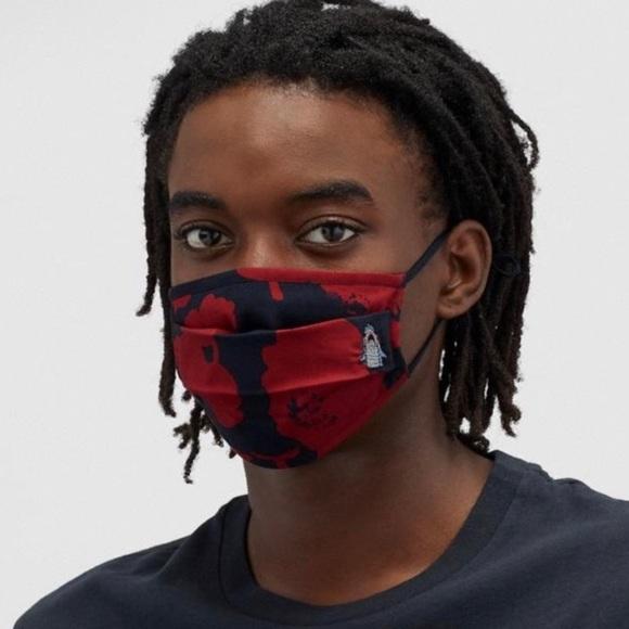 Coach Shark Camo Print Face Mask Cotton